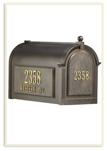 White Hall Mailbox $200.00  w/ address plagues $299.00