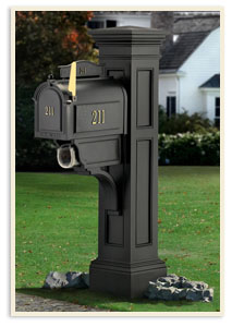 Liberty Post w/ Whitehale mailbox  $689.00. <br>Door panel extra <br>Medium Standered mailbox all colors $389.00