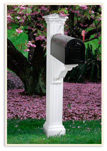 Manchester Mail Post w/ small mailbox  <br>All colors $349.00