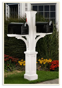 Newport w/ 2 small mailboxes  <br>All colors $389.00 <br>Add a Solar Cap $65.00 extra