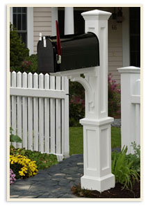 Newport Plus Post w/ small mailbox <br>All  colors $299.00 <br>Add a Solar Cap $65.00 extra