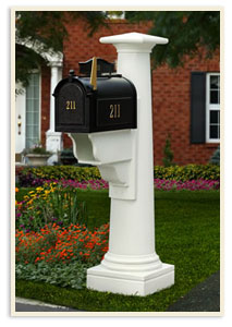 Statesville Mail Post w/ Whitehale mailbox  $699.00 <br>Medium Standard mailbox <br>All colors $419.00