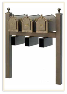 3 and 4 mailbox systems available