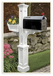 Westbrook Mail Post w/ small mailbox <br>All  colors $339.00 <br>Add a Solar cap $85.00 extra